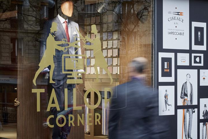法国巴黎TAILOR CORNER男装定制品牌店设计