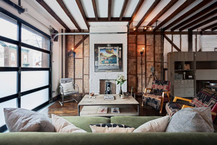 Urban cowboy bed and breakfast by lyon porter new york for Nyc townhouse with garage