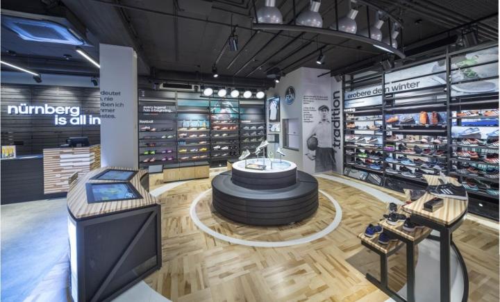 adidas homecourt store nuremberg germany retail design blog. Black Bedroom Furniture Sets. Home Design Ideas