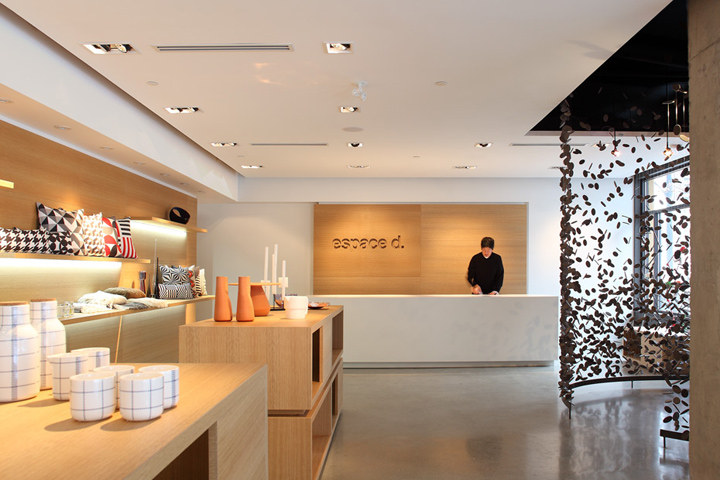 Espace d retail boutique by omb vancouver canada for Commercial space design