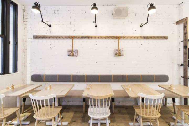 The venue conveys a lived in homelike feel with a scandinavian influence the use of authentic and original materials that were exposed and retained during