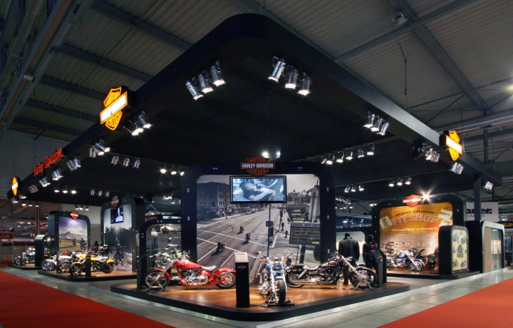 Modular Exhibition Booth : Modular harley davidson space concept by axis design maior