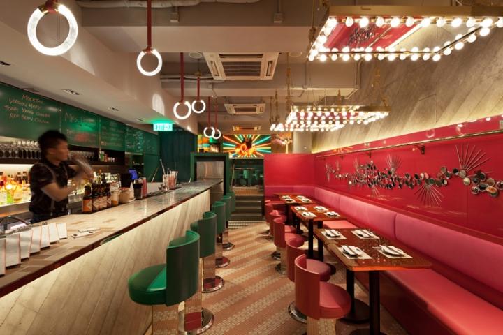 mrs pound restaurant by ncda hong kong china. Black Bedroom Furniture Sets. Home Design Ideas