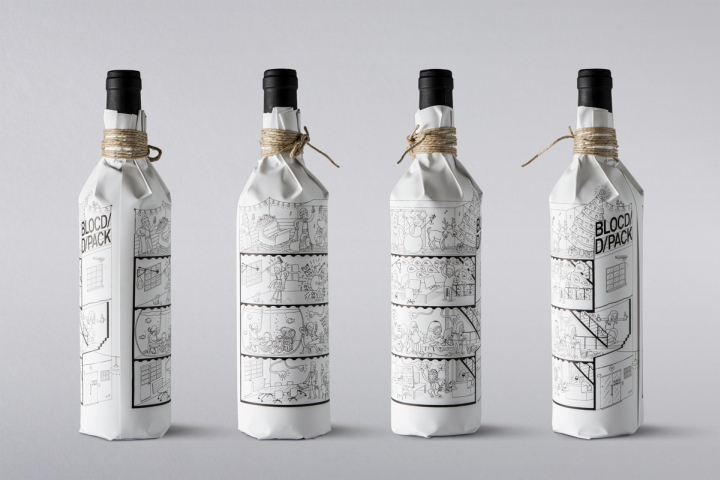 Wine Christmas Packaging.Wine Packaging By Blocd And D Pack