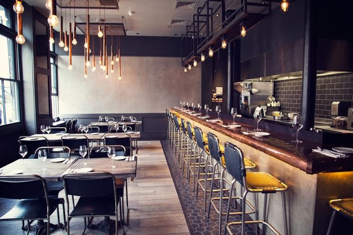 Restaurante del Hotel Artist Residence de estilo industrial y vintage.