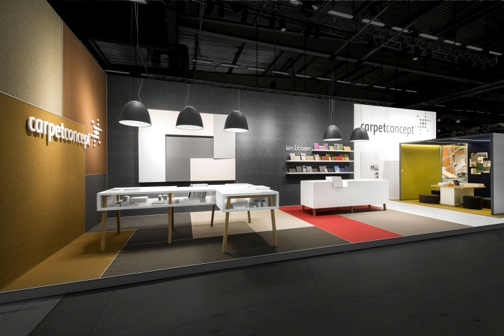 Exhibition Stand Furniture : Carpet concept stand at stockholm furniture fair by