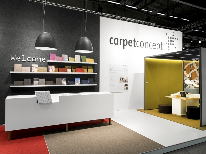 Exhibition Stand Design Furniture : Carpet concept stand at stockholm furniture fair by