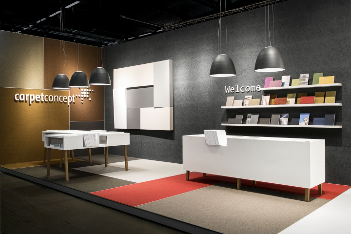 Exhibition Booth Flooring : Carpet concept stand at stockholm furniture fair by