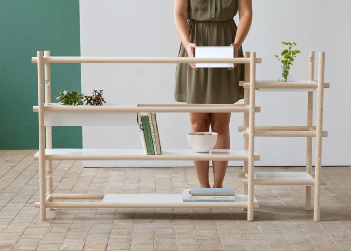 That was the idea, to create something temporary and interchangeable, she  added. Linkki is a storage system made from a birch frame that supports ...
