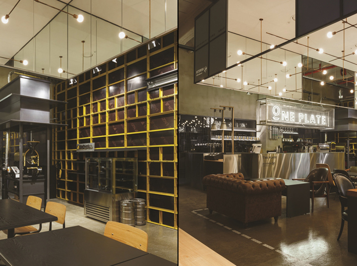 One plate caf dining pub by betwin space design for Design hotel xym ulsan
