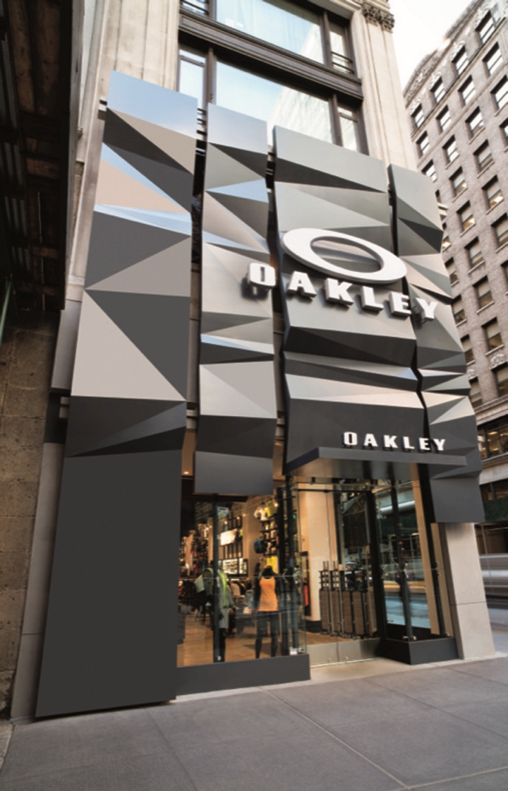 Oakley 5th avenue flagship store by suyama peterson for Retail shop exterior design