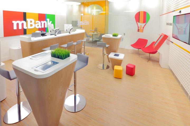 mbank light branch bank by ars retail shopfitting d