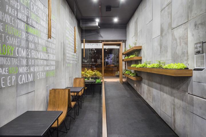 Aja quick service restaurant by arch lab chandigarh