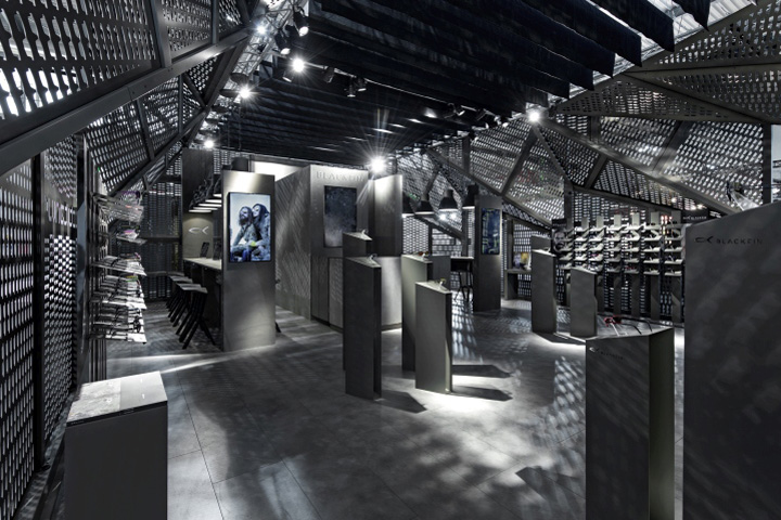 Exhibition Stand Design Italy : Blackfin stand the black shard by anidridedesign at