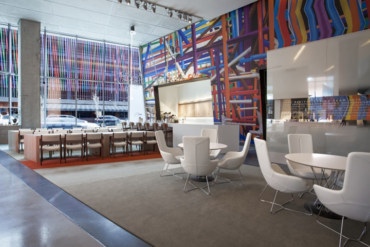 Building Upon Zaha Hadidu0027s Original Vision To Meld The Figurative  Playfulness Of Interior With The Exterior As An U201curban Carpet,u201d The New  Lobby Provides ...