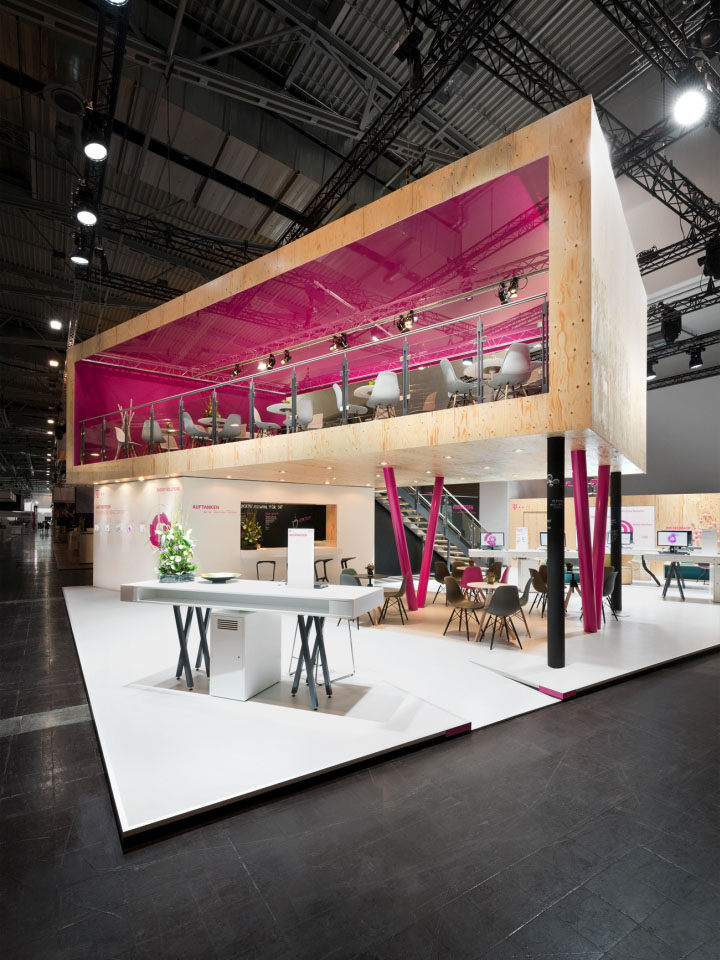 Exhibition Booth Design Germany : Deutsche telekom stand by hartmannvonsiebenthal at e world