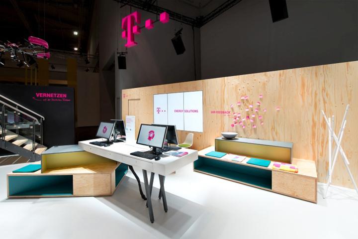 Exhibition Stand Design Barcelona : Deutsche telekom retail design
