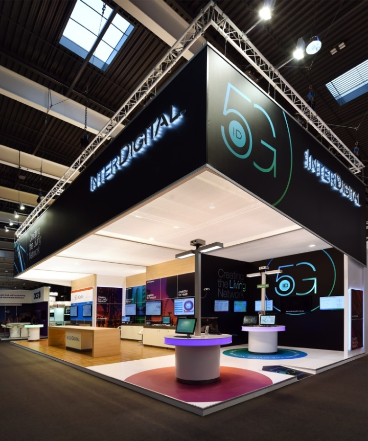 Fashion Exhibition Stand Design : Interdigital booth by glow exhibitions at mobile world