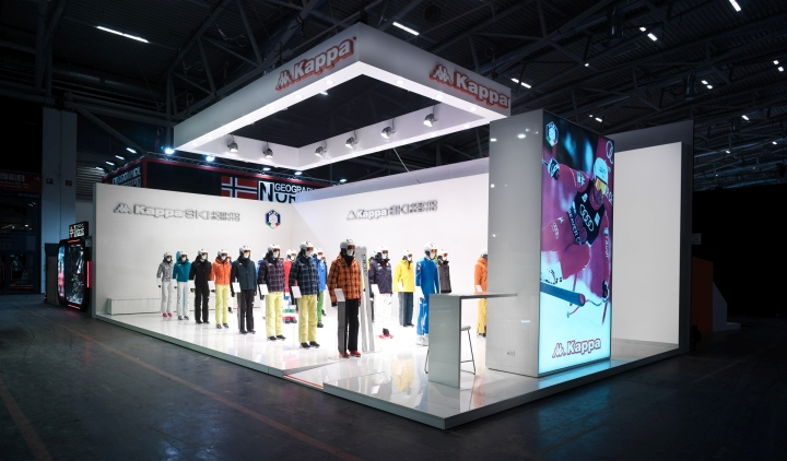 Exhibition Stand Trends 2018 : Retail design — kappa ski exhibition stand by gran