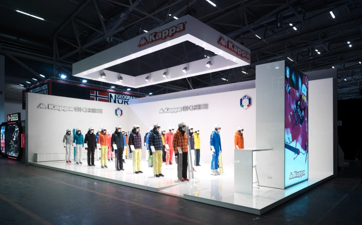 Kappa ski exhibition stand by gran torino design at ispo munich 2015