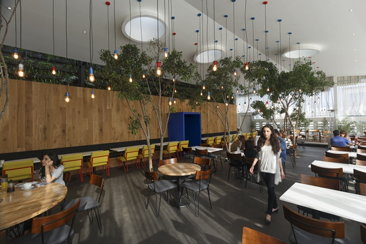 La crpe kitchen restaurant by solis colomer arquitectos guatemala the team also included references to the original la crpe wooden furniture is used with pops of traditionally french colors and patterns workwithnaturefo