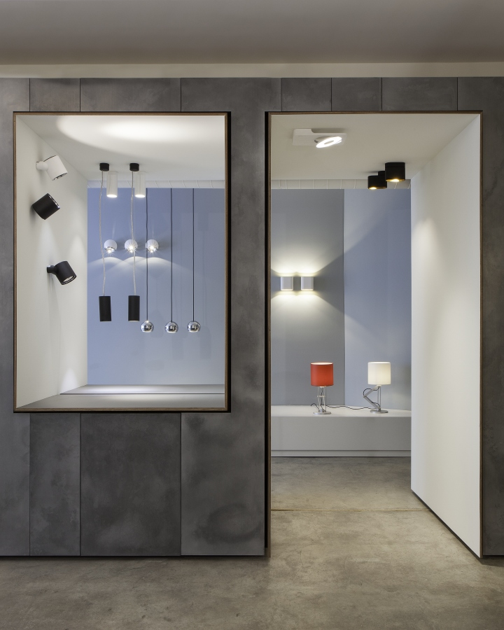 Luceplan And Modular Lighting Instruments Showroom By Amedeo G Cavalchini N