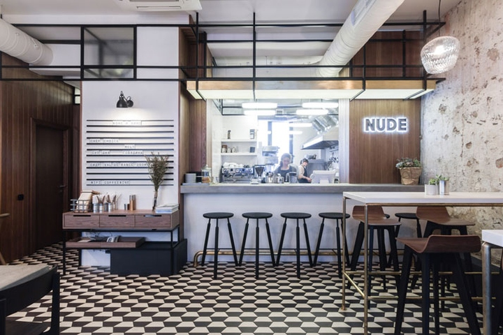 Located In A 1930u0027s Residential Building In The Very Heart Of Moscow Is  Nude Coffee U0026 Wine Bar, A Small Family Establishment That Was Completed In  2014 By ...