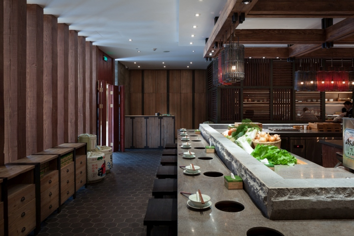 qimin hot pot restaurant by hot dog decor interior. Black Bedroom Furniture Sets. Home Design Ideas