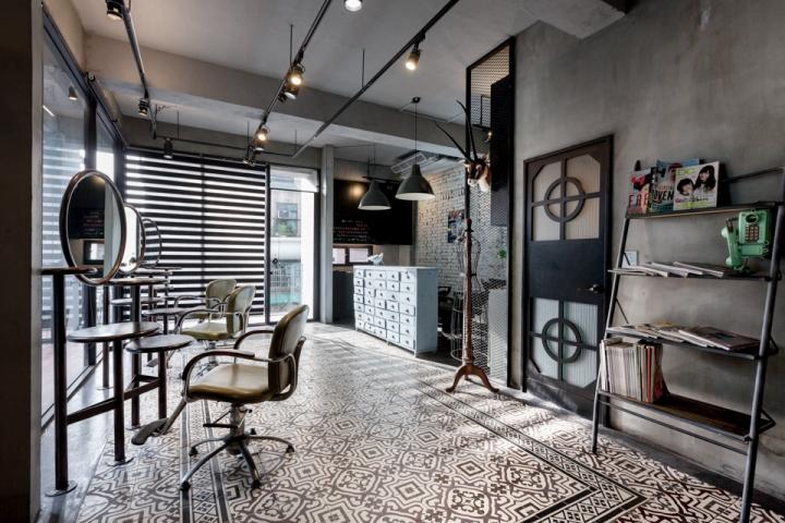 Renovation of split level hair salon residential by hao for Salon renovation