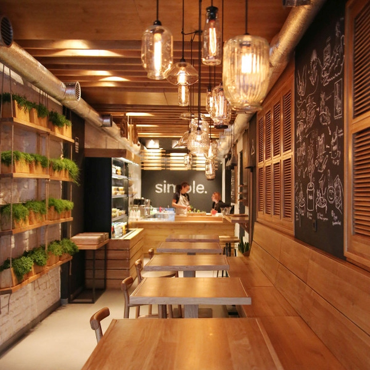 Simple fast food restaurant by brandon agency kiev for Interior decoration pictures of restaurant