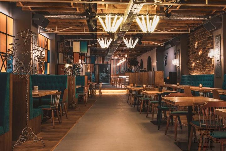located on a main boulevard in constanta city this place feature a mix between relaxed restaurant event hall and club the design brings in light typical - Yellow Restaurant 2015