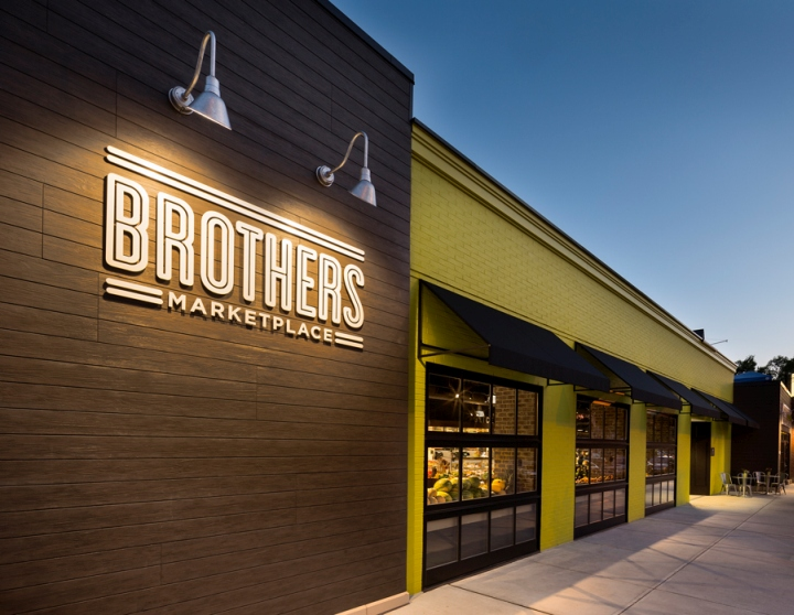 Brothers marketplace by bhdp architecture medfield for Exterior design of a retail store
