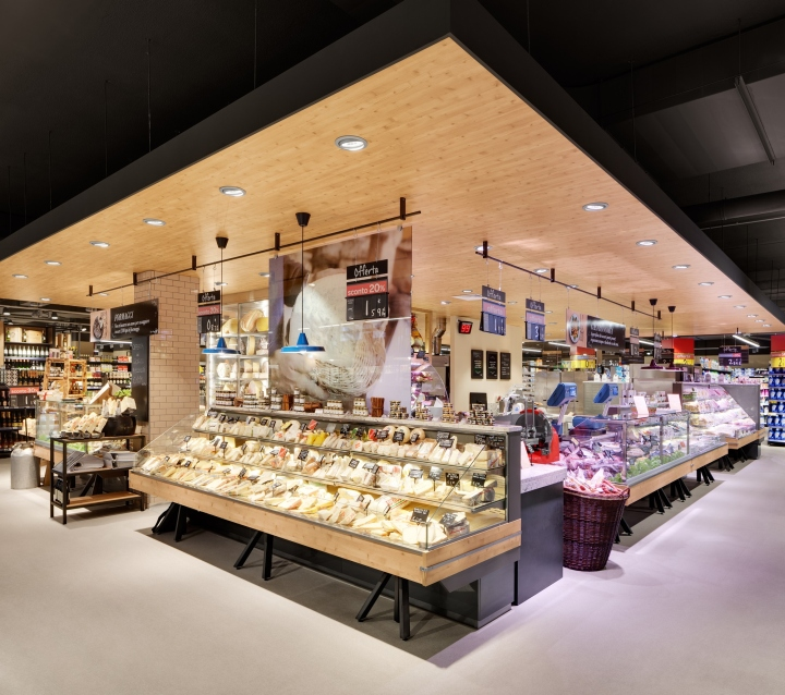 Carrefour gourmet market by interstore design and for Store design milano