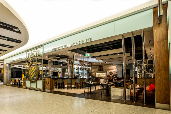 Pilots Bar Kitchen By O1creative At Heathrow Terminal 5 London Uk