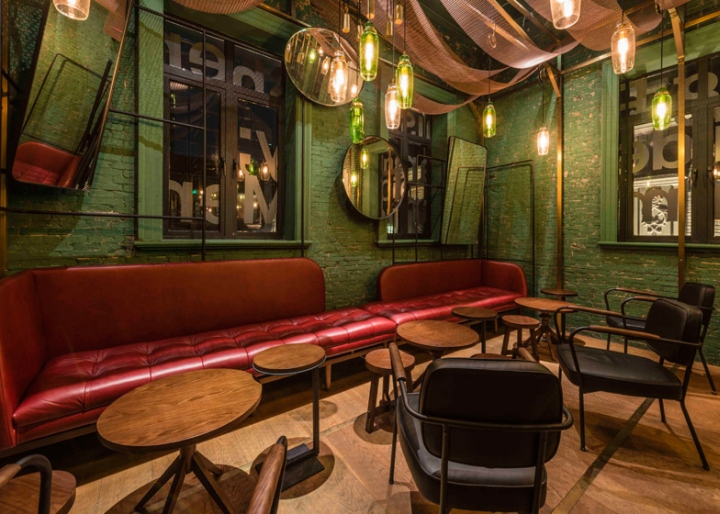 Punch bar by neri hu shanghai china - Interior leather bar free online ...