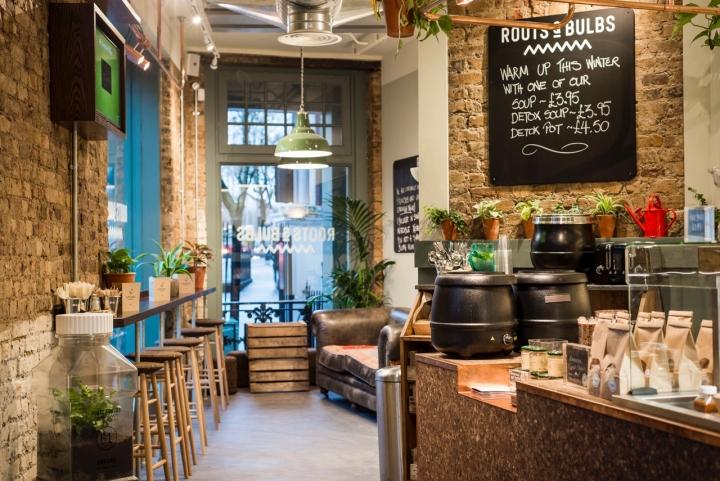 » Roots & Bulbs Juice Bar by Sheridan&Co, London - UK