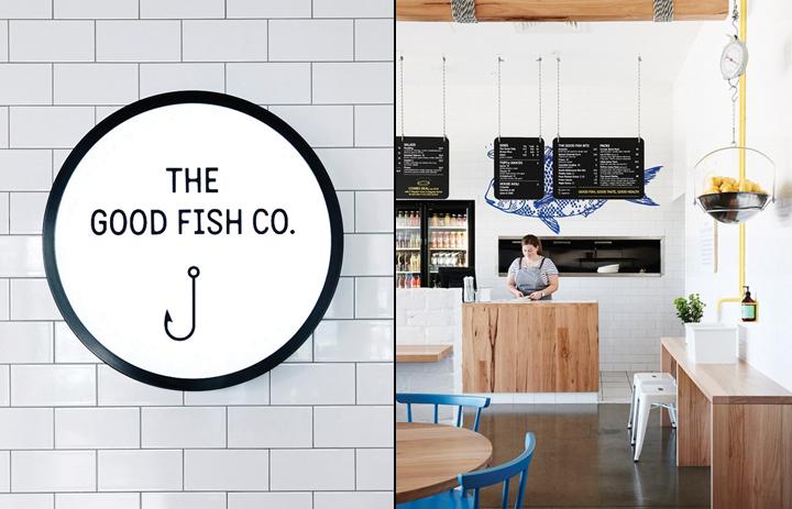Retail design blog the good fish restaurant branding by for Fresh fish shop near me