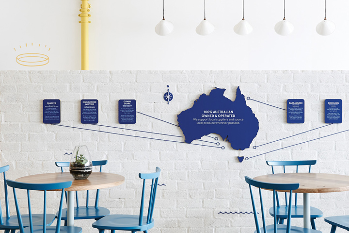 The Good Fish Restaurant Branding by Swear Words