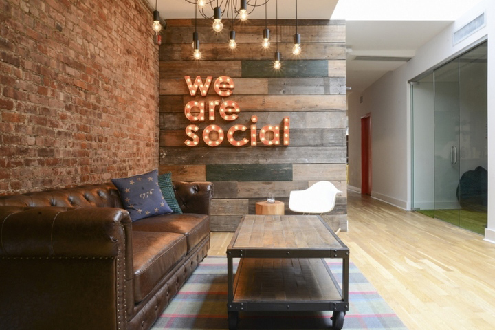 Homepolish Interior Designer Tina Apostolou Did A Complete Redesign Of The Office For We Are Social Located In New York City