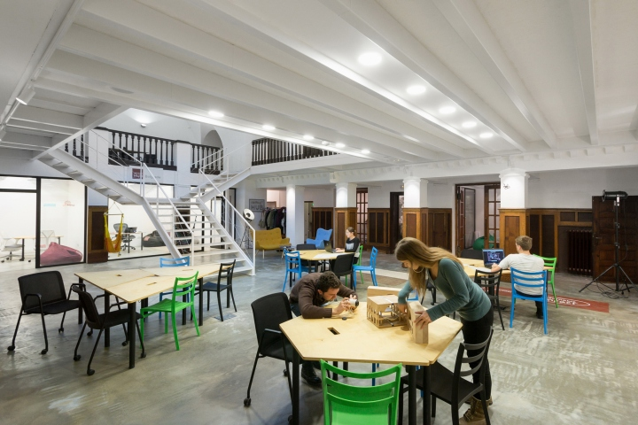 impact hub belgrade is a creative office space created through an
