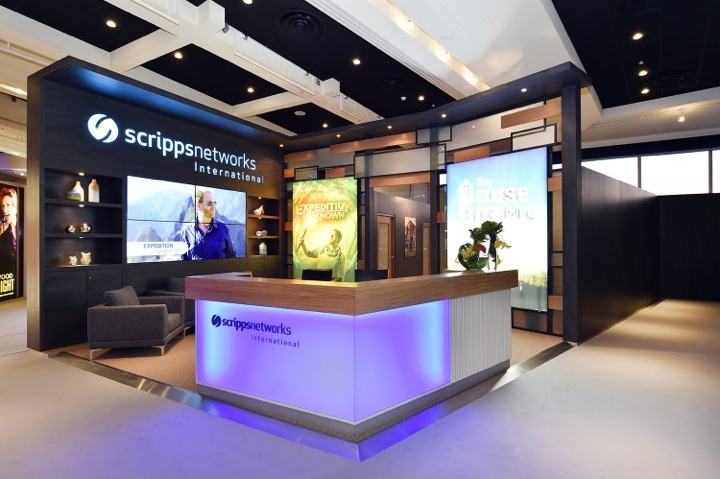 Scripps networks international booth by glow exhibitions for Design hotel glow