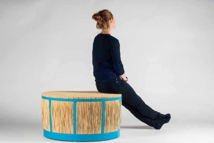 187 Straw Stool By Juan Cappa