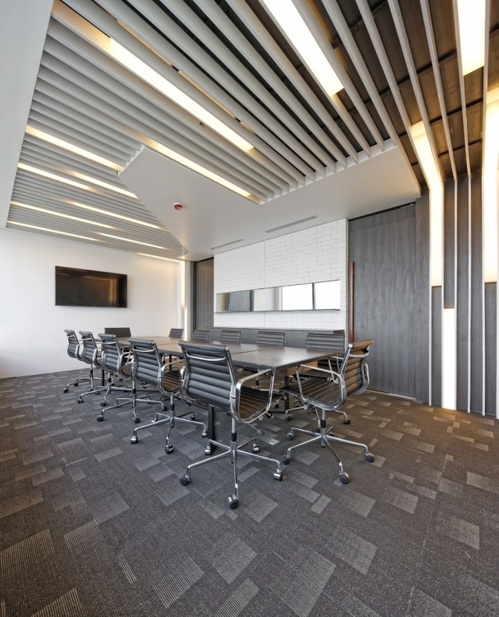 Bbdo indonesia offices by delution architect jakarta for Modern office ceiling design ideas