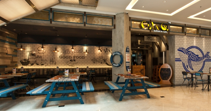 Fish co restaurant by metaphor interior at puri indah for Fish market restaurant nyc