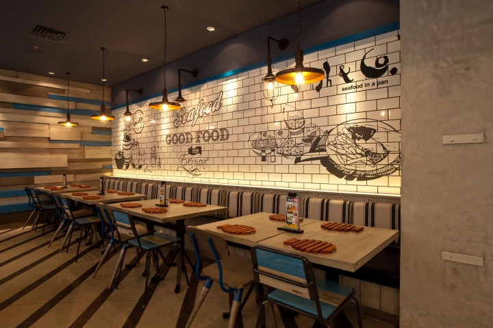 Fish co restaurant by metaphor interior at puri indah