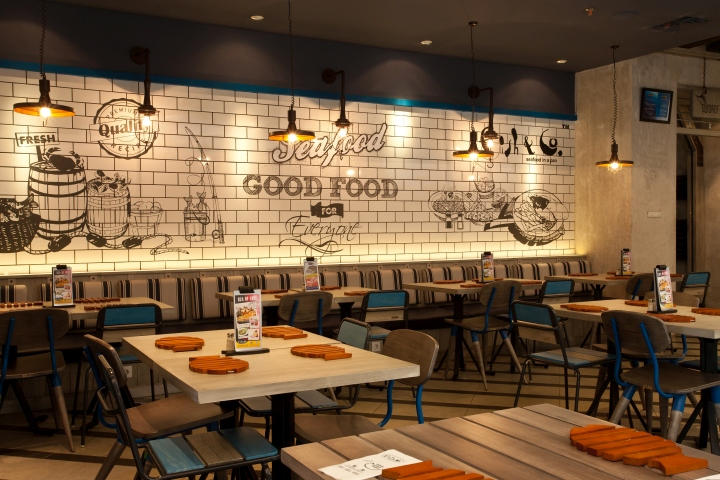 Fish co restaurant by metaphor interior at puri indah for Interior design jakarta