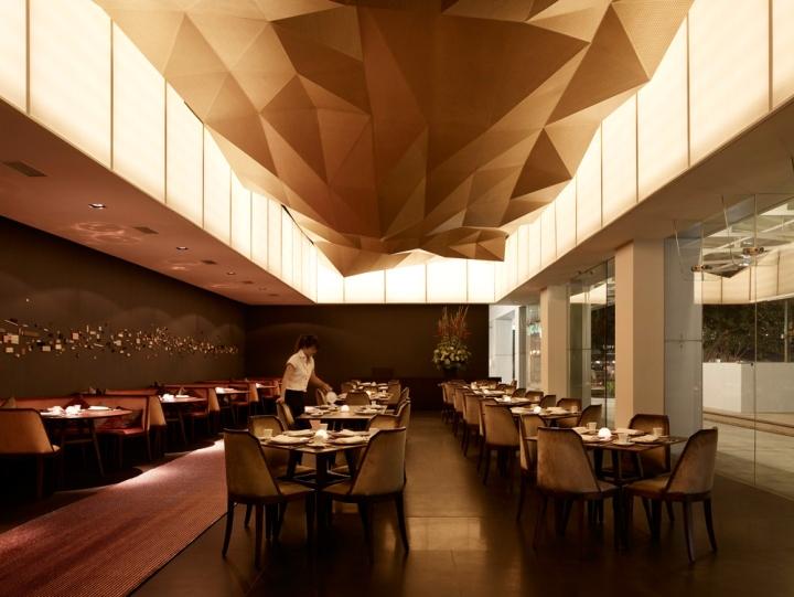 Jing restaurant by antonio eraso singapore retail design blog for Restaurant interior color schemes