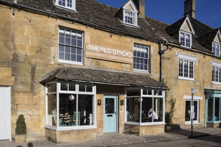 The Old Stocks, Stow on the Wold, Glos. Hotel shoot