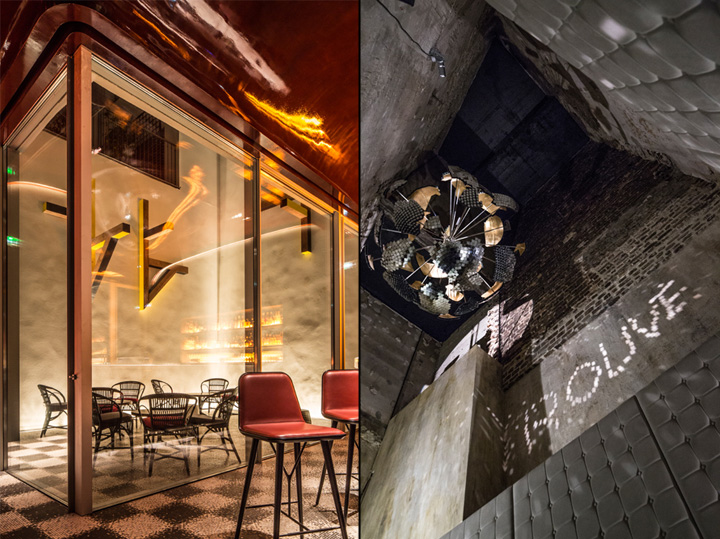 Restaurant and private dining room at les bains hotel by for Bain douche hotel paris