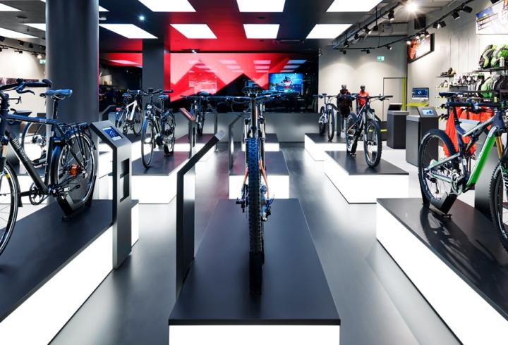 Blocher Blocher Partners biketown store by blocher blocher partners at mona mall munich